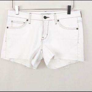 Rich & Skinny Flat Front Shorts Sz 27 Raw Hem